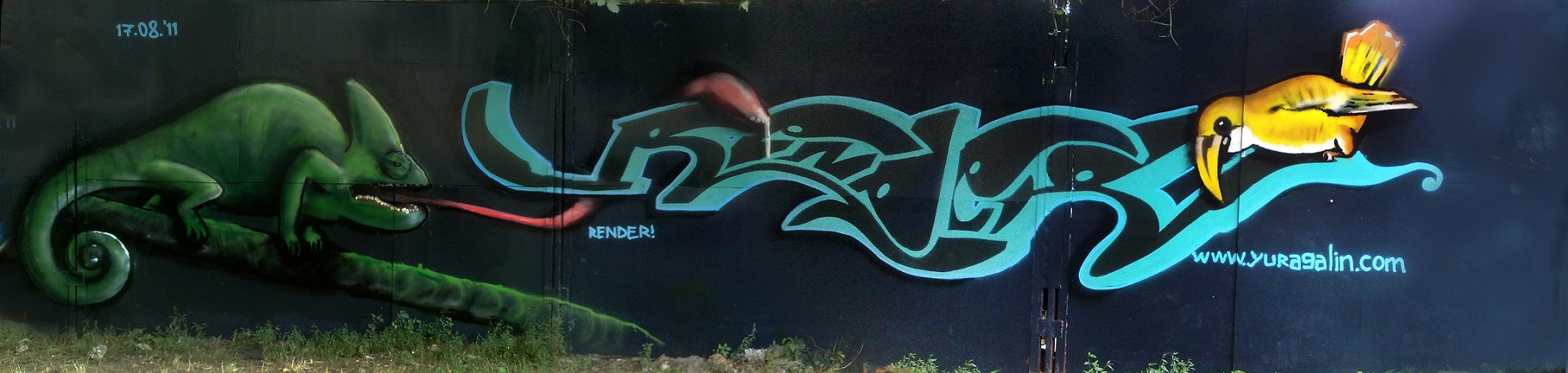 Render Graffiti - Chameleon